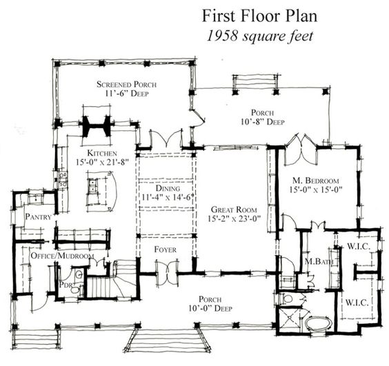 This is another great open living, dining and kitchen floor plan ...