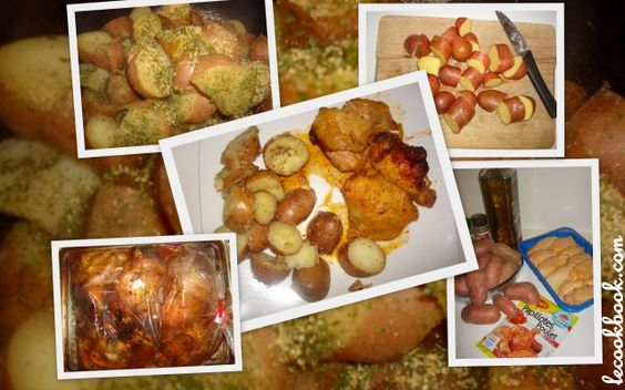 Muslos de pollo a la paprika en papilote con papas rotas | Le Cookbook. La receta en http://www.lecookbook.com/muslos-de-pollo-a-la-paprika-en-papilote-con-papas-rotas/