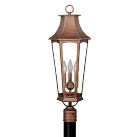 Cascadia Preston 27 25 In H Brushed Copper Post Light T0121 Outdoor Post Lights Post Lights Vaxcel