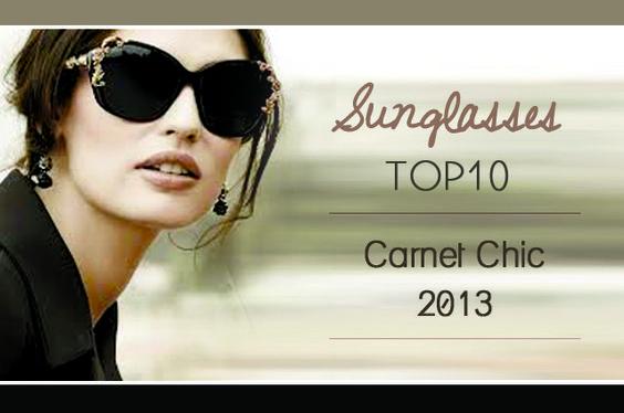 Carnet Chic Sunglasses ss2013 #Swarovski #Dior #Dolce #Prada #MarcJacobs #MiuMiu #DSquared