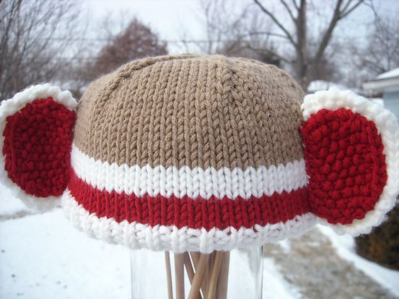 Sock Monkey Hat Knitting Pattern : Pinterest   The world s catalog of ideas