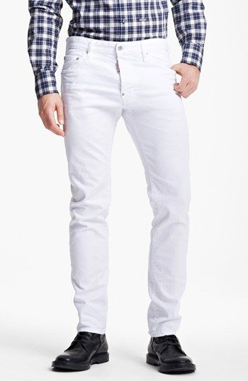 Dsquared2 'Cool Guy' Slim Fit Jeans (Clean White) available at ...