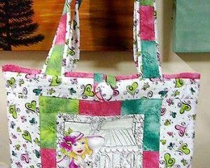 Essa bolsa em tecido usa técnicas simples de patchwork. Confira o passo-a-passo e prepare para presentear.