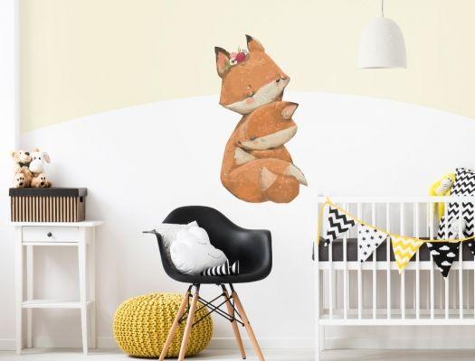 Wandtattoo Kinderzimmer Aquarell Fuchs Mama Mit Baby I Love