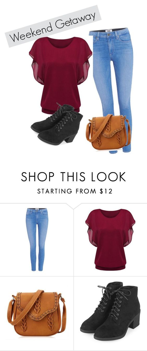 """""""Untitled #186"""" by marielavender ❤ liked on Polyvore featuring Paige Denim and Topshop"""