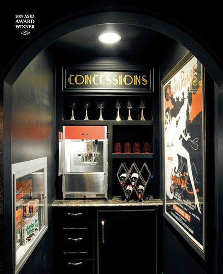 Concession Stand For Theater Room With Images: Mini Fridge, Popcorn And Movie Rooms On Pinterest