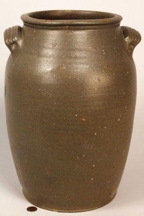 East Tn Stoneware Pottery Jar, Attrib. Mort