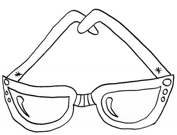 Sunglasses Coloring Pages 01