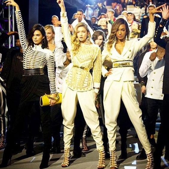 Balmain x H&M runway instagram photos - Elle Canada
