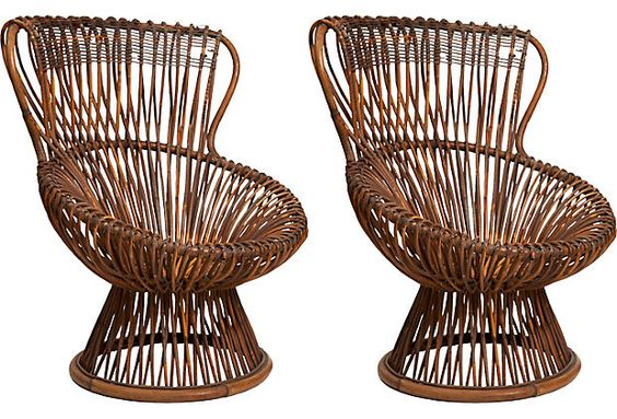 Franco Albini Margarita Chairs, Pair