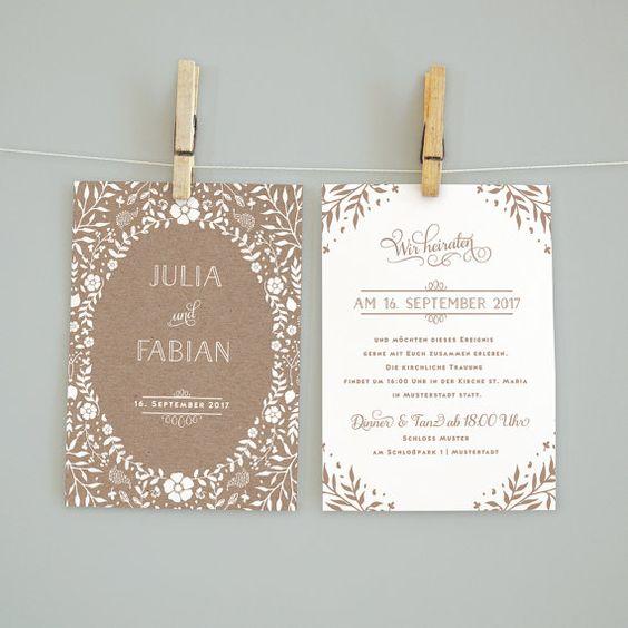 Hochzeitseinladung Set   von bonjourpapershop auf Etsy