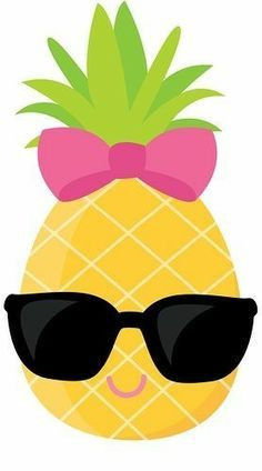 Pineapple Clipart, Cute Pineapple Clip Art , Sunglasses ...