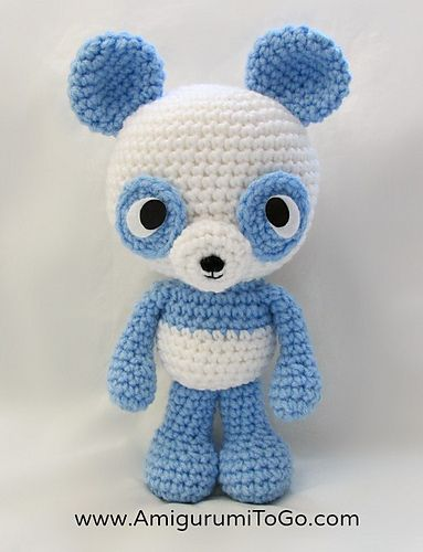 Amigurumi Bigfoot Panda : Little Bigfoot Panda 2014 - Free by Sharon Ojala of ...