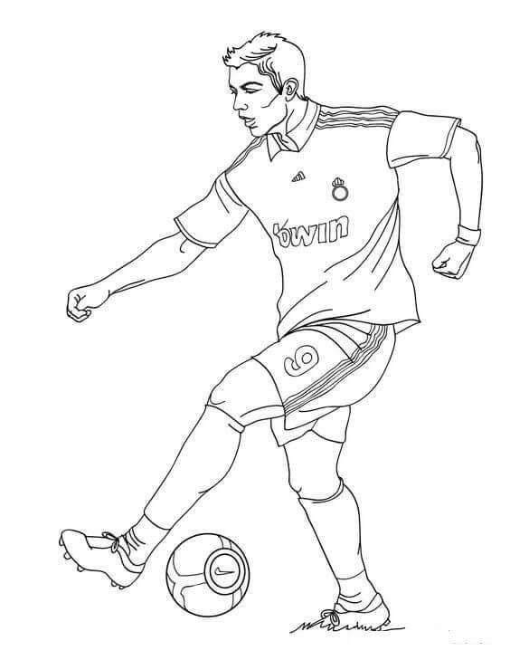 Best Of Soccer Player Coloring Pages Sketsa Warna Olahraga