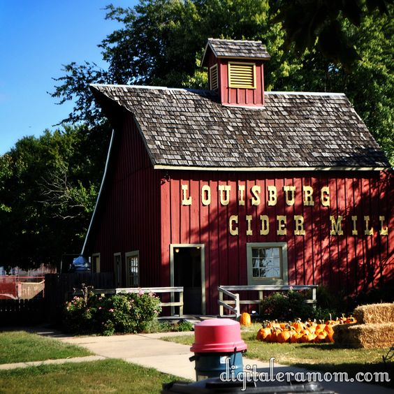 Fresh Cider and Cider Doughnuts from Lousiburg Cider Mill, Kansas Fall Bucket List, Only 20 minutes from Kansas City.