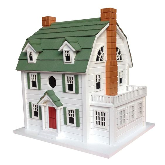 Features:  -Removable walls for easy cleaning.  -Real shingled roofs.  -Ventilation and drainage.  -Unpainted interior.  -Designed to accommodate common cavity dwellers such as wrens, finches, chickad