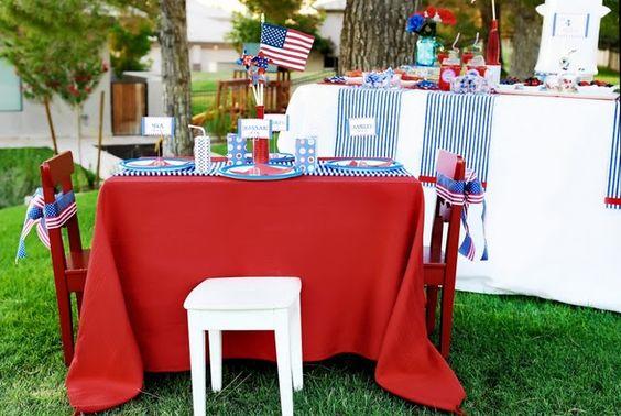 E a mesa para as crianças!