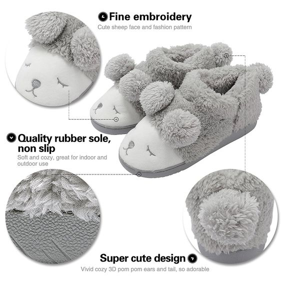 Summer Mae Women's Warm Plush Soft Sole Indoor Slipper: Amazon.co.uk: Shoes & Bags