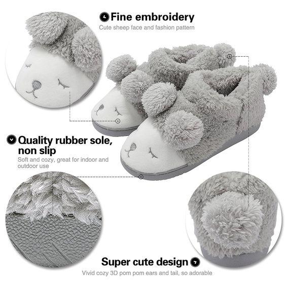 Summer Mae Women's Warm Plush Soft Sole Indoor Slipper: Amazon.co.uk: Shoes & Bags