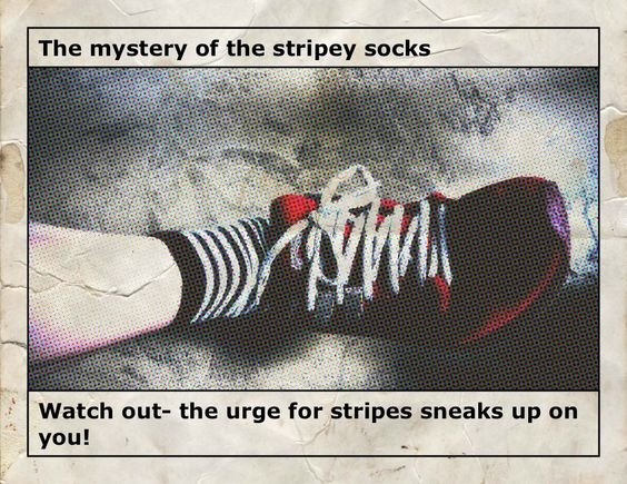 the mystery of the socks......who do they belong to?