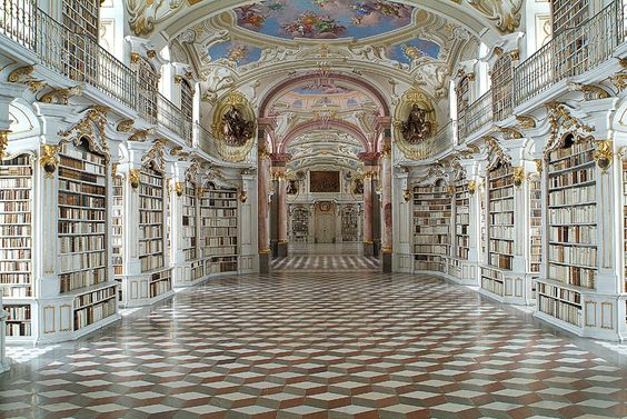 Bibliothek Steiermark. Admont, Styria.