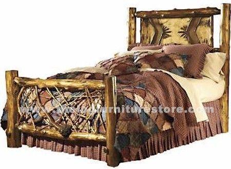 Adirondack Twig Log Bed