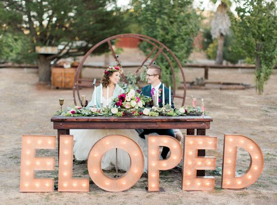 Giant letters wedding decorations