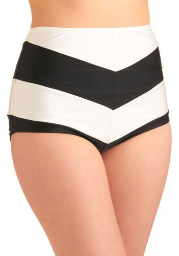 Chevron the Boardwalk Swimsuit Bottom: Youll be having a blast strolling the shoreline in this chic swimsuit bottom from Fables by Barrie! Sophisticated and simple  this black-and-white  chevron-patt…    #1960s #60s #Retro #Vintage #ChevronTheBoardwalkSwimsuitBottom, #FablesByBarrie