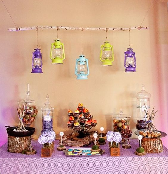 Camp themed baby shower, how cute!!