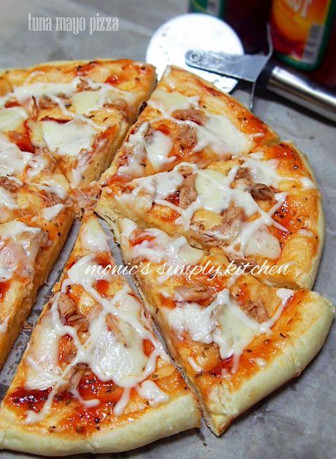 Pizza Tuna Mayonnaise Resep Makanan Pizza Tuna Makanan Dan Minuman