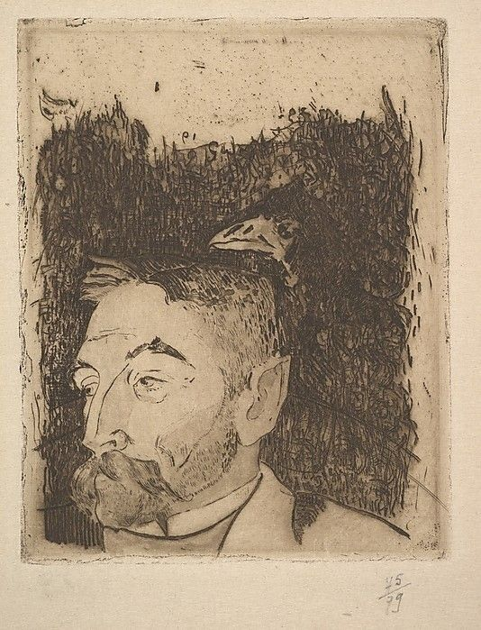 Portrait of Stéphane Mallarmé by Paul Gauguin (1891)