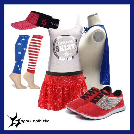Looking for the perfect #4thOfJulyRunningGear?! #TeamSparkle has you covered! From #Patriotic runs to #4thOfJuly race costumes, Sparkle Athletic has the running essentials for you! Fourth of July Running Costume
