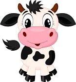 baby cow : Bonito dos desenhos animados da vaca Ilustração