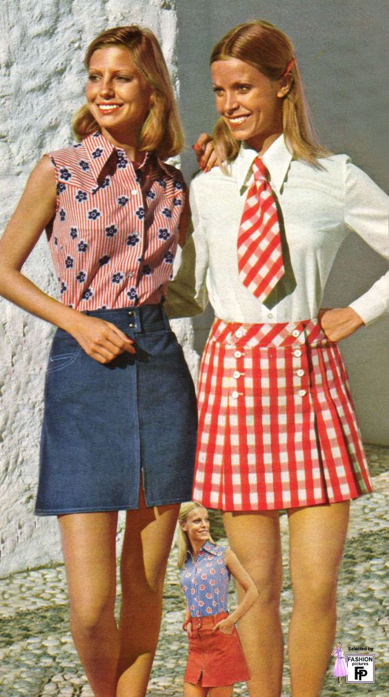 1970s Minis  - I want a denim skirt like this!