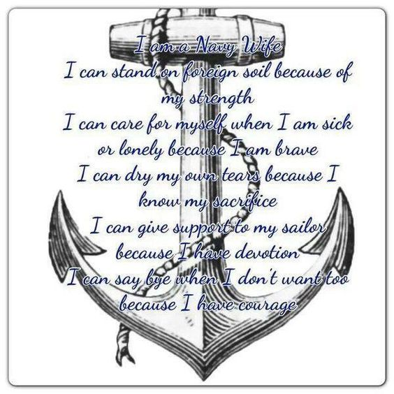 Proud To Be A Navy Wife Anchors Aweigh Pinterest