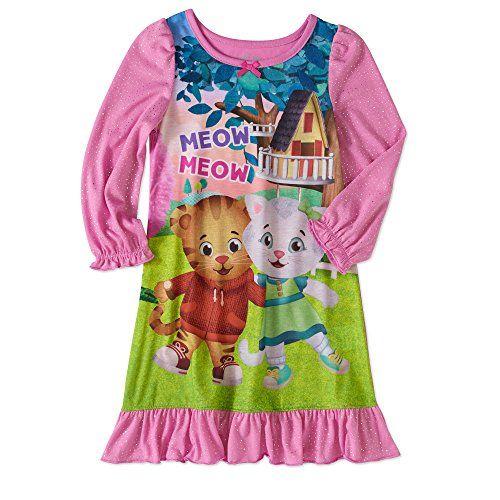 Daniel Tiger Neighborhood Nightgown Toddler Girls Night Shirt