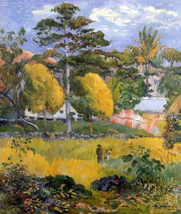 Promenade en famille Sun - (Paul Gauguin)