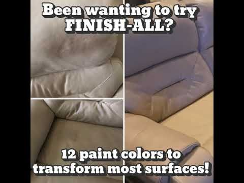 Been Wanting To Try Finish All Youtube Painting Leather Leather Repair Couch Repair