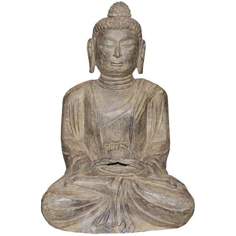 Clean any impurities from your home with this small stone Buddha that has its hands placed in a mediation mudra.
