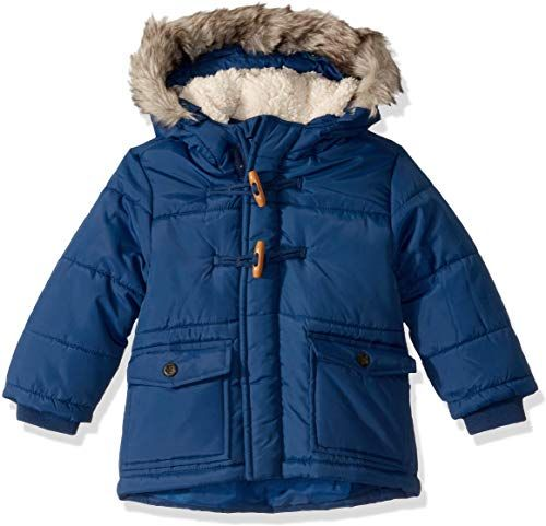 SOLOCOTE Boys Waterproof Jacket Heavy Hooded Wadded Winter Coat