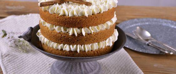 Cake de calabaza con crema de malvavisco