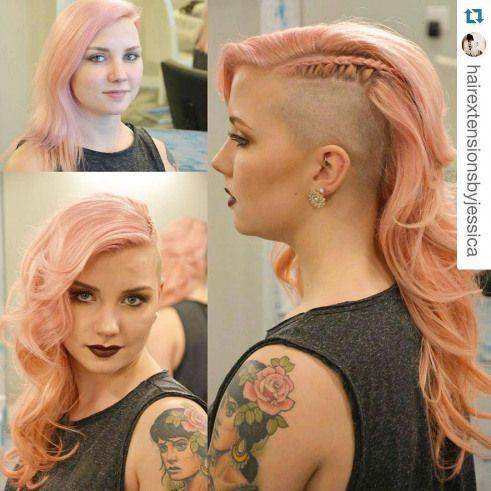 Welp hairextensions #hair #extensions #kort #haar | Half shaved hair NI-14