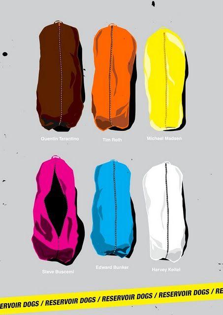 Minimalist Movie Poster: Reservoir Dogs by Jacek Rudzki