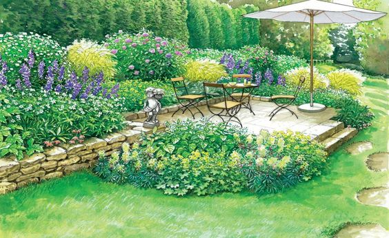 Neuer Sitzplatz im Blütenmeer