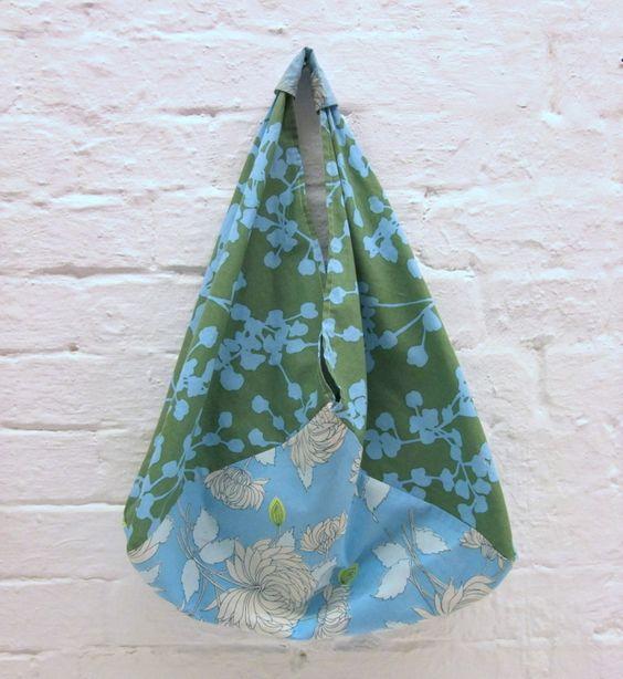 Die Origami-Bag: 30 Minuten Tasche für Anfänger. Version aus 3 Stk Stoff