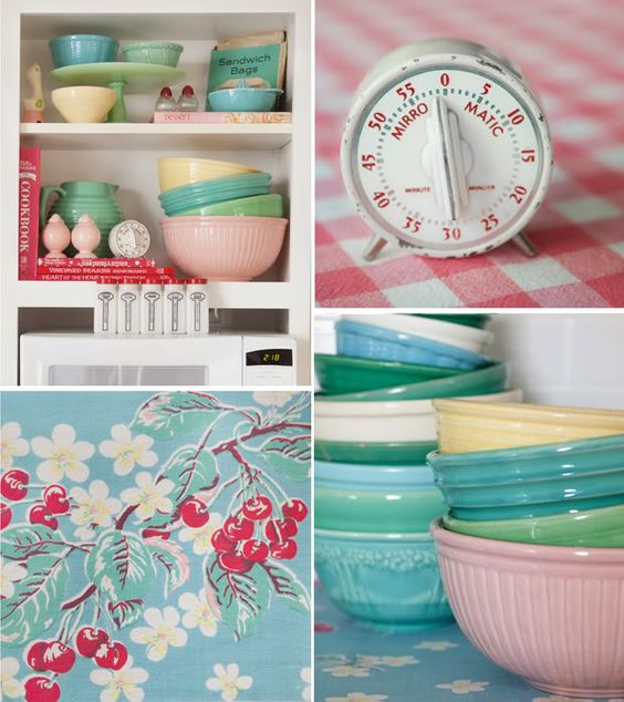 Kitchy Kitchen Decor: Tablecloths, Pastel And Vintage Colors On Pinterest