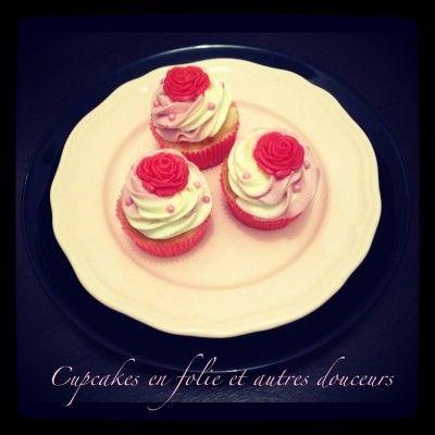 Cupcakes fraise chocolat blanc