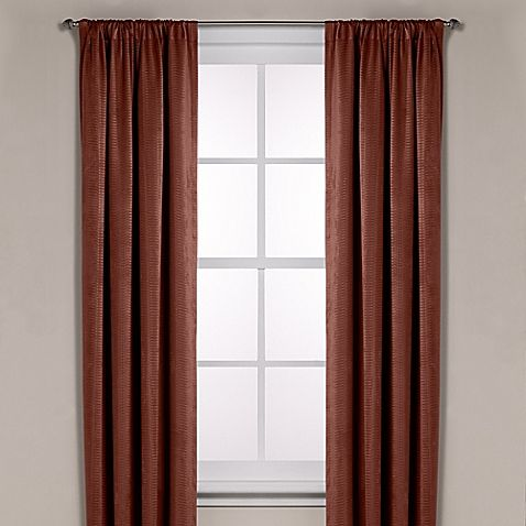 Possible Kitchen Curtains Diamond Texture Rod Pocket Room Darkening 63 Inch Window Curtain Panel In Ru Panel Curtains Bed Bath And Beyond Window Curtains