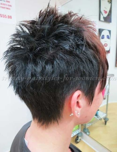 Image Result For Short Spiky Hairstyles Back View Hair Styles Short Hair Back Short Spiky Haircuts