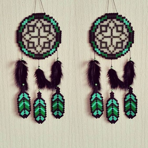 Dreamcatcher hama beads by sistyria